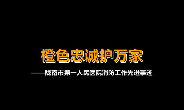 """""""119""""消防奖先进集体——陇南市第一人民医院"""