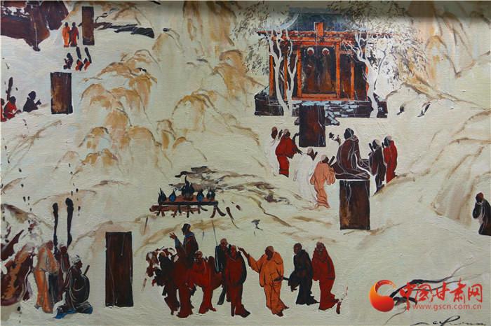 当莫高窟邂逅油画 敦煌邀您看东方文化的世界表达(组图)