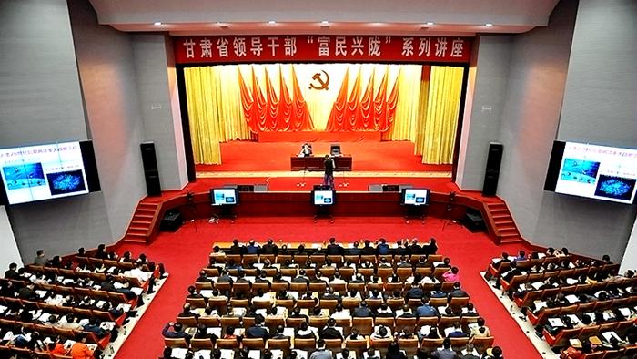 中国工程院院士吴建平来甘作网络安全专题讲座(图)