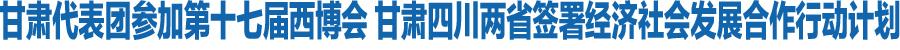 甘肃代表团参加第十七届西博会 甘肃四川两省签署经济社会发展合作行动计划