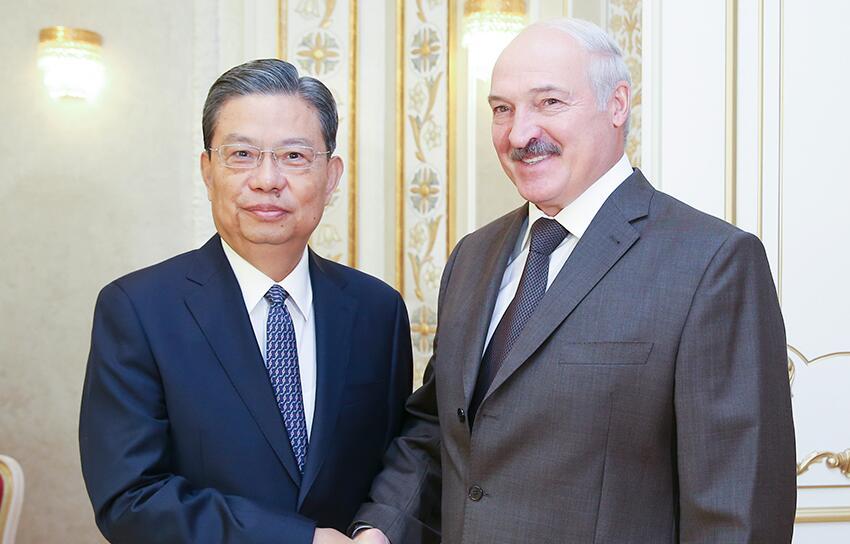 赵乐际对白俄罗斯进行正式友好访问