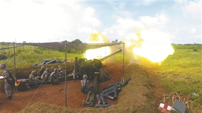 南部战区陆军某海防旅组织开展实弹射击演练