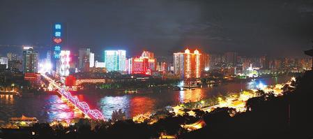 【陇原放歌】国庆假日 省城兰州黄河风情线上华灯璀璨