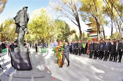 酒泉各界隆重纪念铁人王进喜诞辰95周年