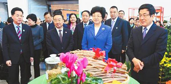 2018中国(怎么网上挣钱)中医药产业博览会隆重开幕 林铎致辞