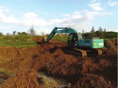 兰州新区提升生态环境秦王川国家湿地公园建拦水坝