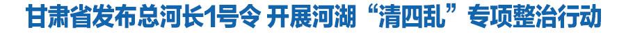 """怎么网上挣钱省发布总河长1号令 开展河湖""""清四乱""""专项整治行动"""