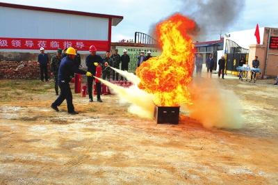兰州新区消防演练易燃易爆场所应急救援