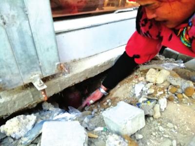 兰州和平镇镇政府协调产权单位维修塌陷地基
