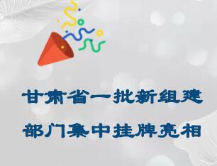 【存眷】龙虎和省一批新组建部分会合挂牌