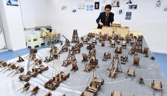 兰州教师复原中国古代城防军事模型