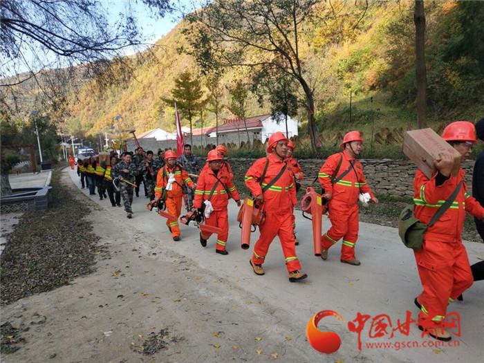 陇南市两当县泰山乡:开展森林消防应急演练提高应急处置能力(组图)