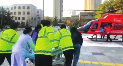 32分钟空中大营救 会宁首例重病患者通过直升机成功转运兰州