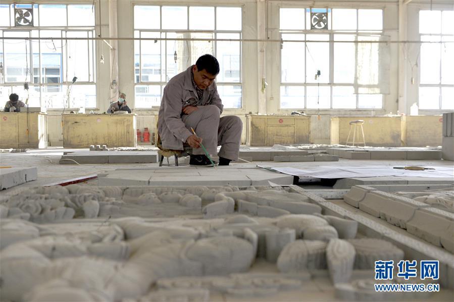 (经济)(1)甘肃临夏:砖雕产业快速发展