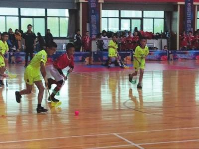 意彩龙虎和小门生旱地冰球赛在龙虎和省委党校体育馆开赛