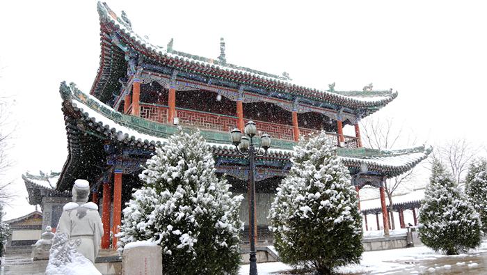 小陇画报|雪落国学馆 文脉与自然的完美融合