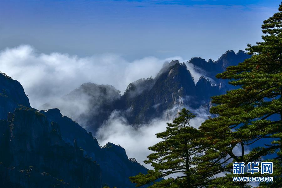 """#(社会)(1)黃山现""""瀑布流云""""壮美景观"""