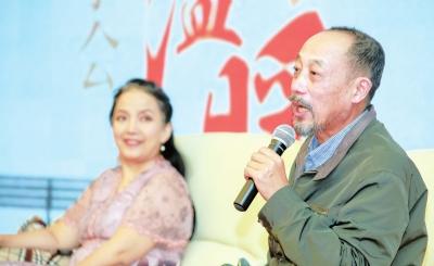 话剧《独自温暖》艺术分享会在兰举行 吕丽萍、孙海英夫妇金城谈创作感受