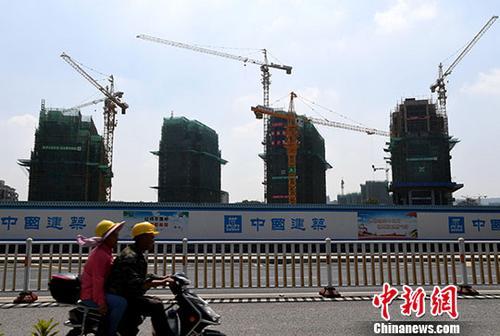 资料图:正在建设中的房地产楼盘。<a target='_blank'  data-cke-saved-href='http://www.chinanews.com/' href='http://www.chinanews.com/'>中新社</a>记者 张斌 摄
