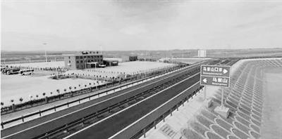 【新闻快报】甘肃唯一的口岸公路G215线全线贯通