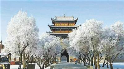 图说中国甘肃网丨雪扮关城