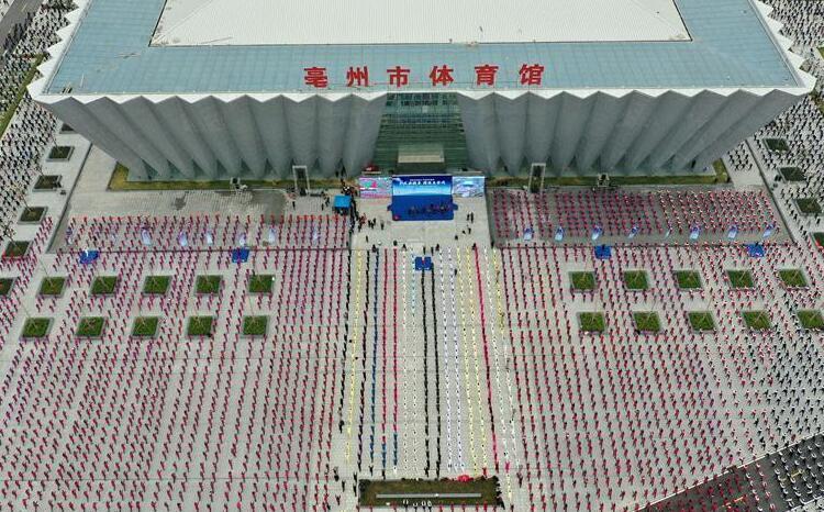 安徽亳州:50万人齐练五禽戏