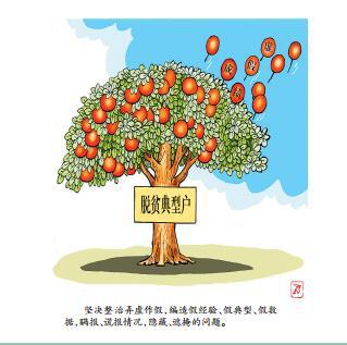 """坚决向形式主义官僚主义亮剑 ——扶贫纪律""""人知人晓 人遵人守""""系列漫画(三)"""