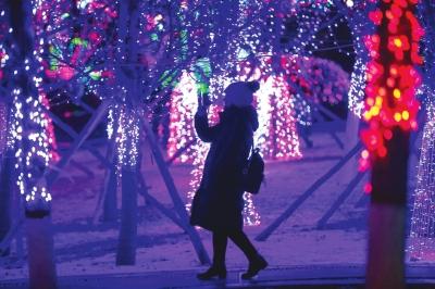兰州雪中赏灯