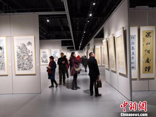 共有来自全国的264幅作品参展 高学昌 摄