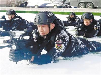 兰州特警鏖战寒冬砺精兵