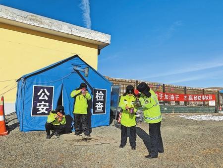乌鞘岭上的帐篷检查站 武威天祝县公安局保障交通安全纪实