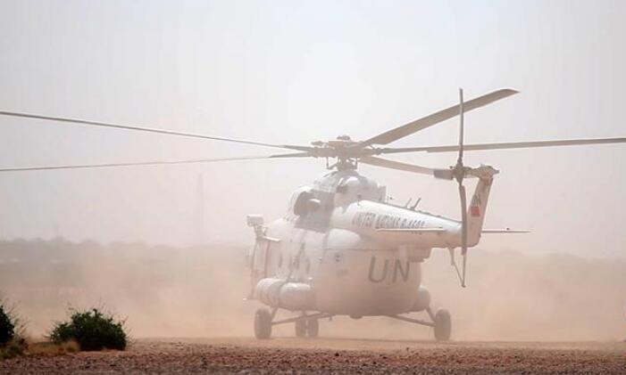 中国赴苏丹达尔富尔维和直升机分队完成2019年首次任务飞行