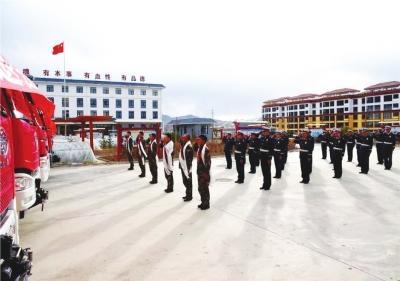 甘南、陇南消防部队转隶后最后一批士兵退役