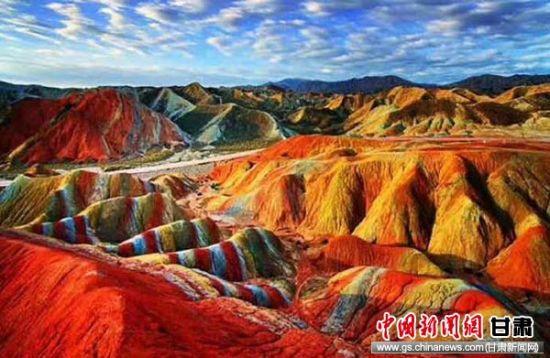 欧洲攻略丹霞称号获张掖优秀旅游景区景区中国红灯区v攻略七彩图片