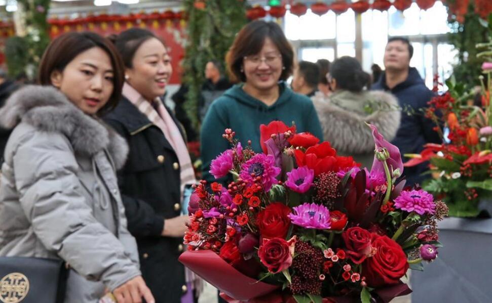 北京:年宵花卉迎春节