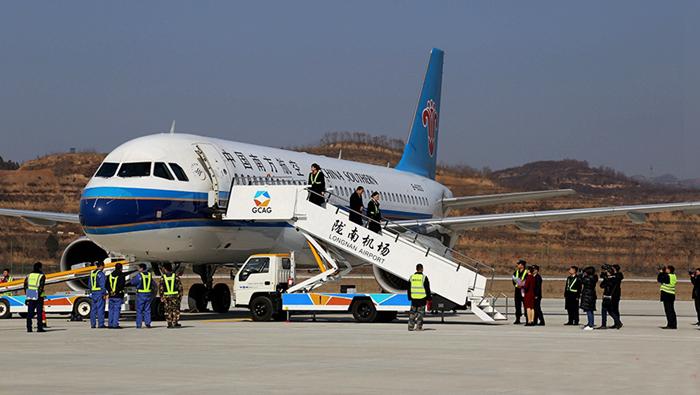 陇南—广州航班今日正式守旧 飞行工夫约2小时30分