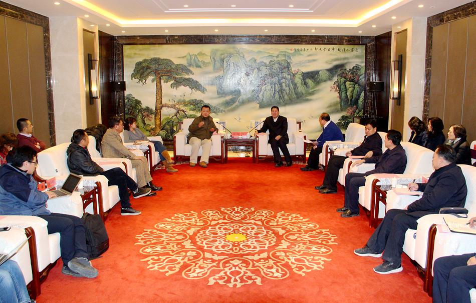 天水市长王军会见华侨城集团总裁苗壮一行 洽谈文化旅游合作事宜