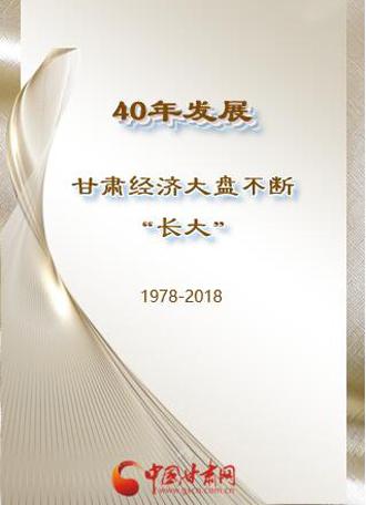 """H5丨40年发展 ,甘肃经济大盘不断""""长大"""""""