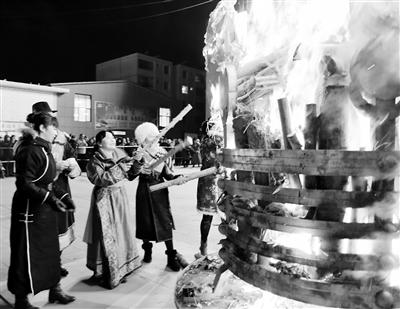 小年夜,酒泉肃北300名牧民祭火