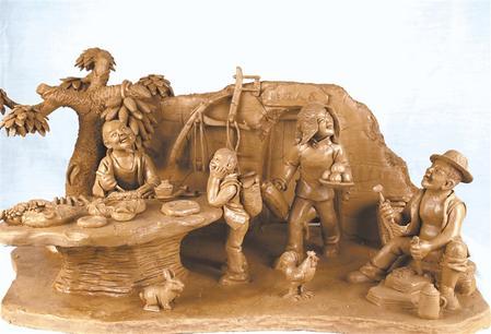 【视点】 舞起秧歌贺新春 ——常天平泥塑作品