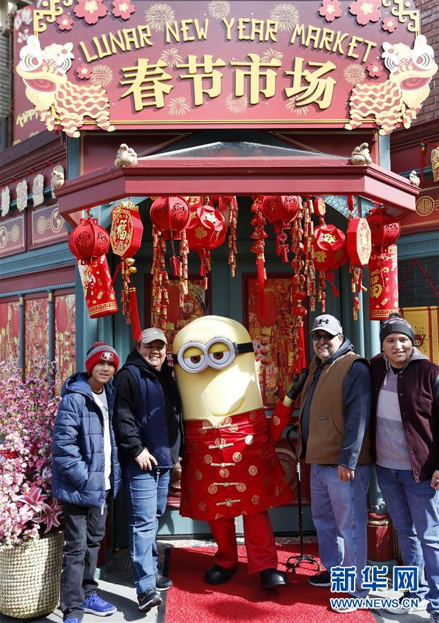 """(国际)(4)好莱坞举世影城内的""""中国年味"""""""