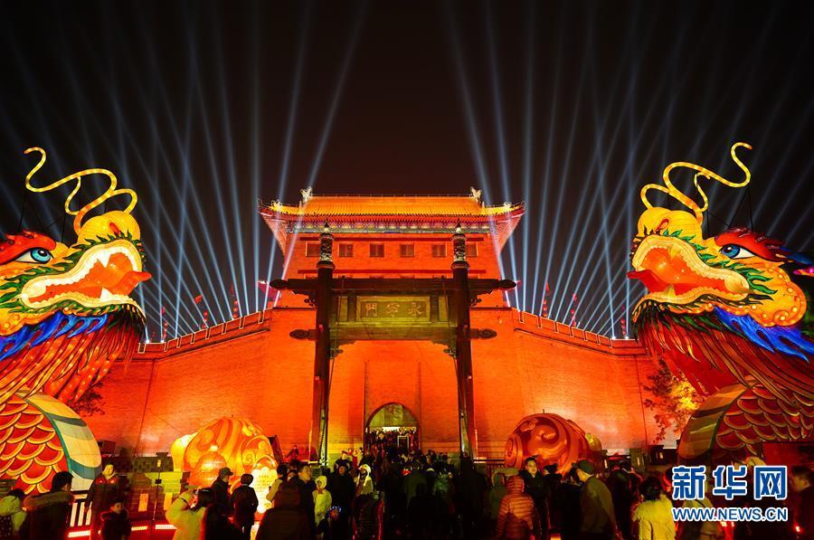 (社会)(1)西安夜景璀璨庆佳节