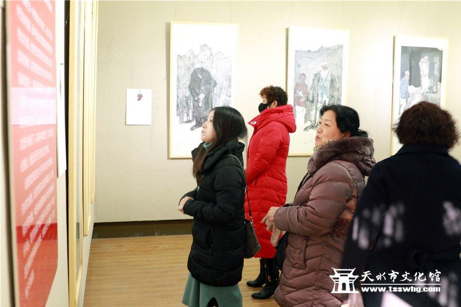 时代丹青中国画博士十二人作品邀请展在天水隆重开幕
