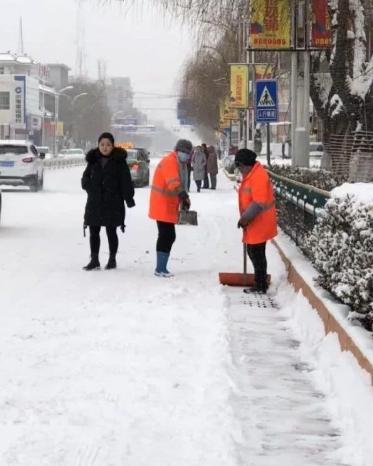 甘肃省大部地方出现降雪或雨夹雪天气