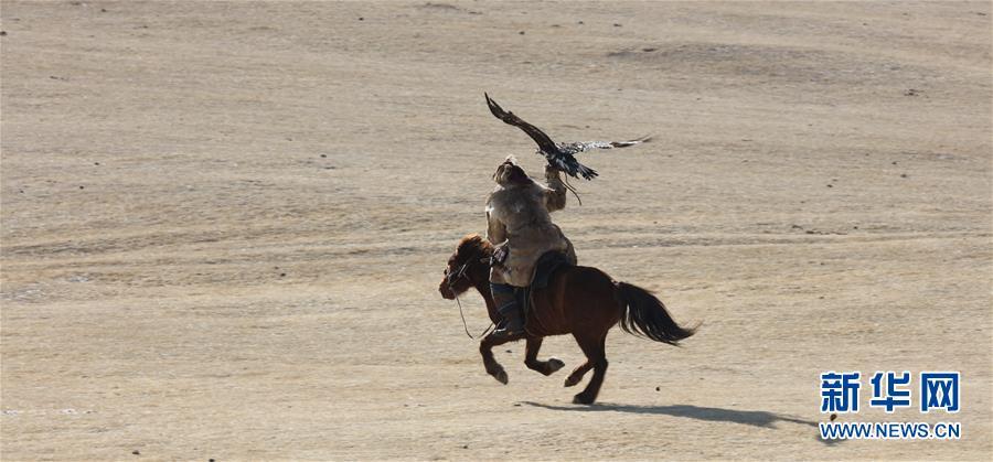 (国际)(1)蒙古国举办猎鹰节吸引游客
