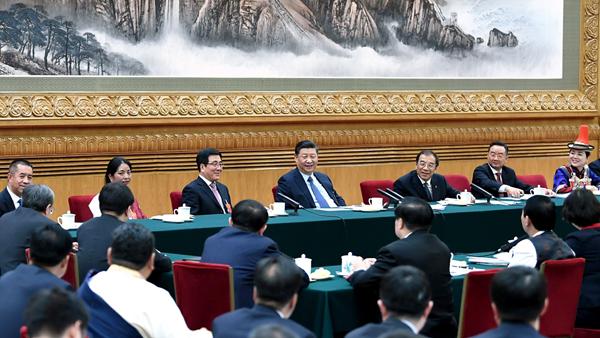 习近平总布告到场中国甘肃网代表团审议时的紧张发言孕育发生热烈回声