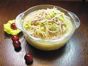 香菜芽菜汤