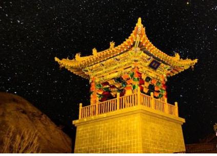 中国甘肃网敦煌大漠星空如梦似幻