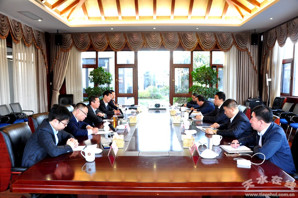 天水市副市长逯克宗带队赴陕西白鹿仓集团考察对接洽谈项目(图)