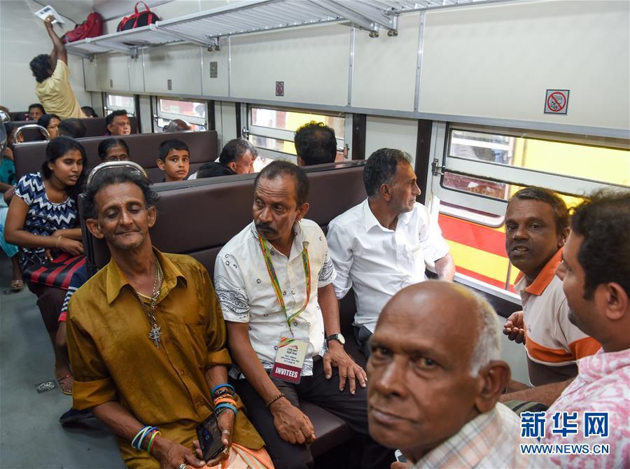 """(国际·""""一带一路""""高峰论坛·图文互动)(4)中企承建斯里兰卡南部铁路项目举行通车仪式"""